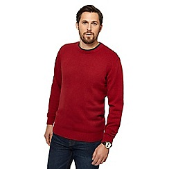 Maine New England - Big and tall dark red marl crew neck jumper