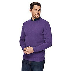 Maine New England - Bright purple marl crew neck jumper