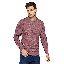 Maine New England - Dark red twist knit jumper