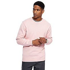 Maine New England - Big and tall pale pink crew neck jumper