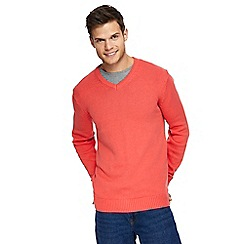 Maine New England - Big and tall bright pink v-neck jumper