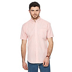 Maine New England - Big and tall peach single pocket regular fit shirt