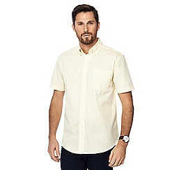 Maine New England - Pale green single pocket regular fit shirt