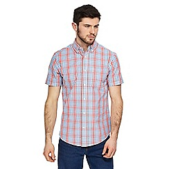 Maine New England - Big and tall red checked tailored fit shirt
