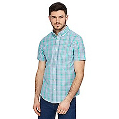 Maine New England - Big and tall green checked tailored fit shirt