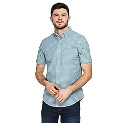 Maine New England - Green mini check print tailored fit shirt