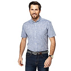 Maine New England - Big and tall blue textured shirt