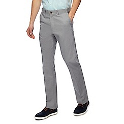Maine New England - Big and tall light grey straight leg trousers