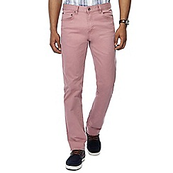 Maine New England - Big and tall pink washed chino trousers