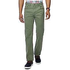 Maine New England - Big and tall pale green washed chino trousers