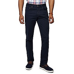 Maine New England - Navy washed chino trousers