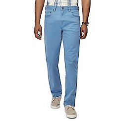 Maine New England - Big and tall blue washed chino trousers