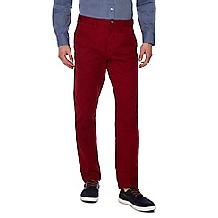 Maine New England - Red tailored fit chino trousers