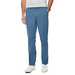 Maine New England - Blue tailored fit chino trousers