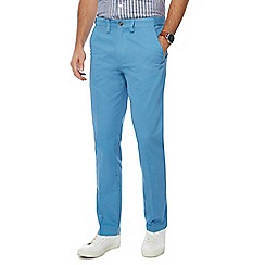 Maine New England - Big and tall pale blue tailored fit chino trousers