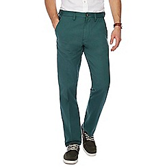 Maine New England - Big and tall bottle green tailored fit chino trousers