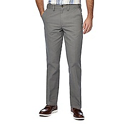 Maine New England - Big and tall taupe textured tailored fit chino trousers