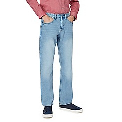 Maine New England - Light blue wash straight jeans
