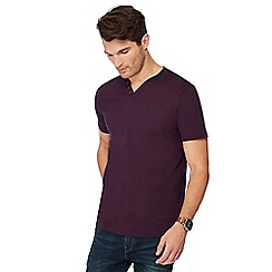 Maine New England - Big and tall plum notch neck t-shirt
