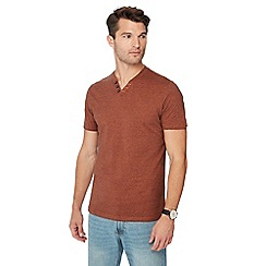 Maine New England - Big and tall orange notch neck cotton t-shirt