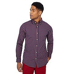 Maine New England - Red checked print regular fit shirt