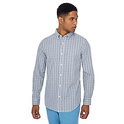 Maine New England - Blue checked button down collar regular fit shirt