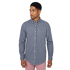 Maine New England - Grey checked print regular fit shirt