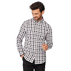 Maine New England - Multicoloured checked long sleeve regular fit shirt