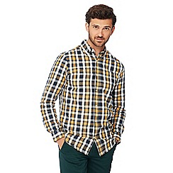 Maine New England - Mustard checked long sleeve regular fit shirt