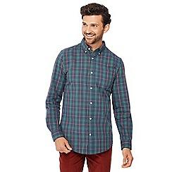 Maine New England - Green checked long sleeve regular fit shirt