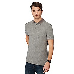 Maine New England - Grey tipped cotton polo shirt