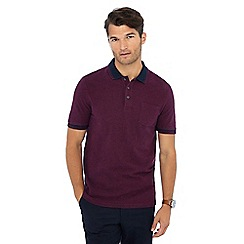 Maine New England - Plum textured polo shirt
