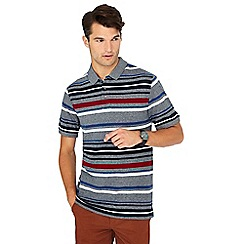 Maine New England - Multicoloured 'Toronto' striped print cotton polo shirt
