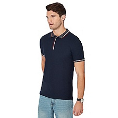 Maine New England - Navy tipped cotton polo shirt