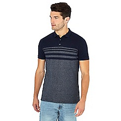 Maine New England - Navy placement stripe polo shirt