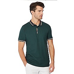 Maine New England - Green tipped cotton polo shirt