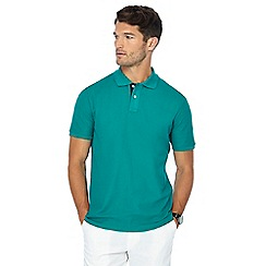 Maine New England - Big and tall green contrast placket polo shirt