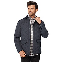 Maine New England - Navy fleece panel quilted shower resistant jacket