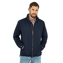 Maine New England - Big and tall navy shower resistant harrington jacket