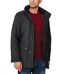 Maine New England - Dark grey coated cotton jacket