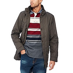 Maine New England - Big and tall khaki coated cotton jacket