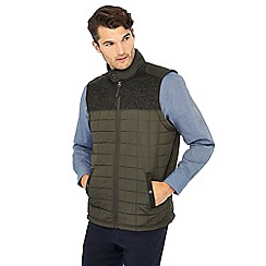 Maine New England - Big and tall khaki quilted gilet