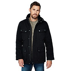 Maine New England - Black cotton car coat