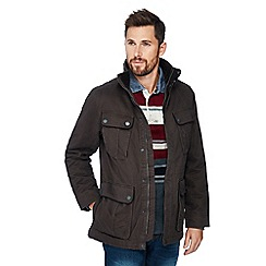 Maine New England - Big and tall brown cotton car coat