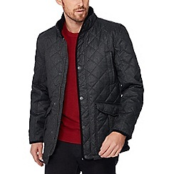 Maine New England - Big and tall dark grey quilted jacket