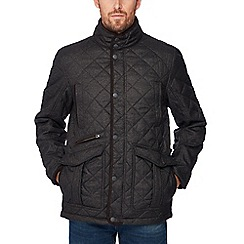 Maine New England - Big and tall brown quilted jacket