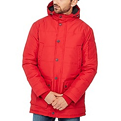 Maine New England - Red borg lined parka