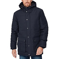 Maine New England - Big and tall navy borg lined shower resistant parka