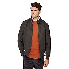 Maine New England - Big and tall brown Harrington jacket