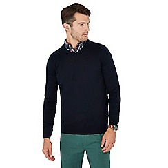 Maine New England - Navy V-neck jumper